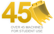Over 45 machines for student use