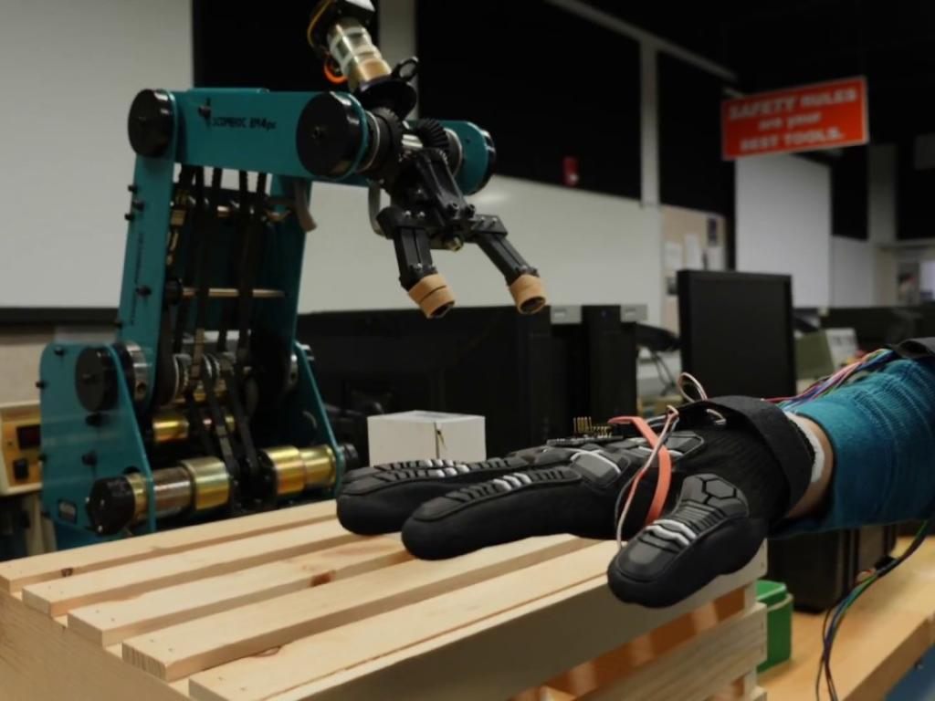 Wired Glove Gives Life to Robot